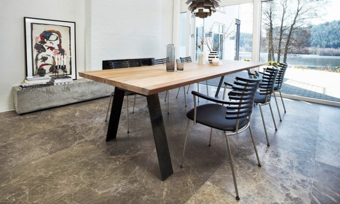 Table salle à manger bois scandinave