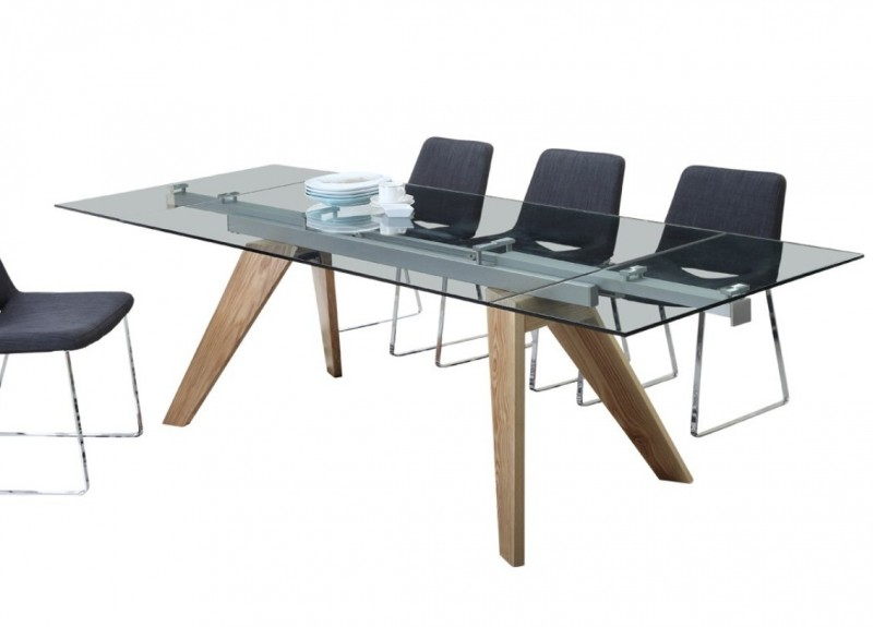 Table extensible bois scandinave