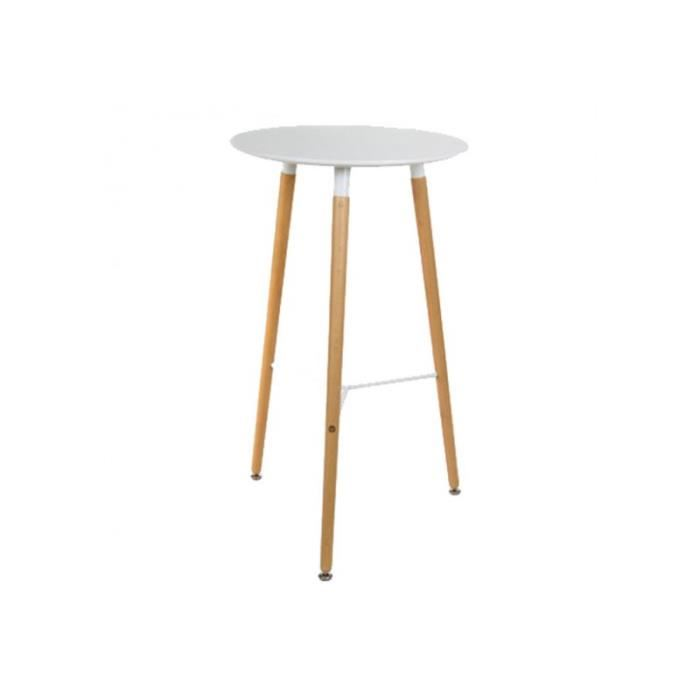 Table haute rectangulaire scandinave