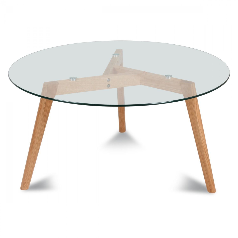 Table ronde scandinave metal