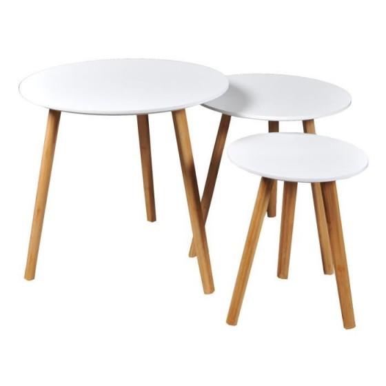 3 table gigogne scandinave