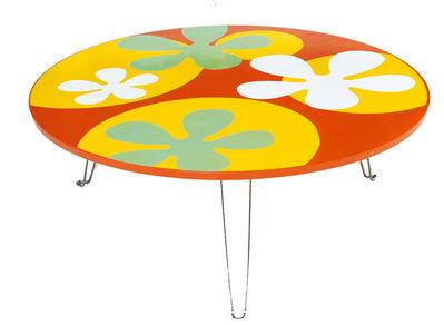 Table basse ronde de couleur
