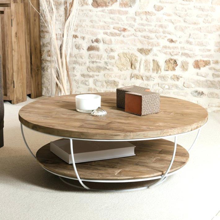 Table basse ronde verre inox