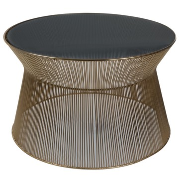 Table basse avec pouf beige