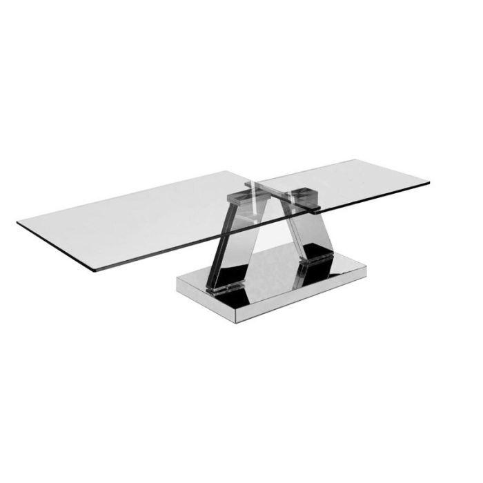 Table basse design en verre pivotant