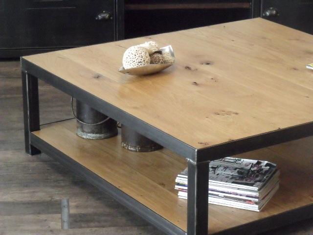Table basse bois et metal design