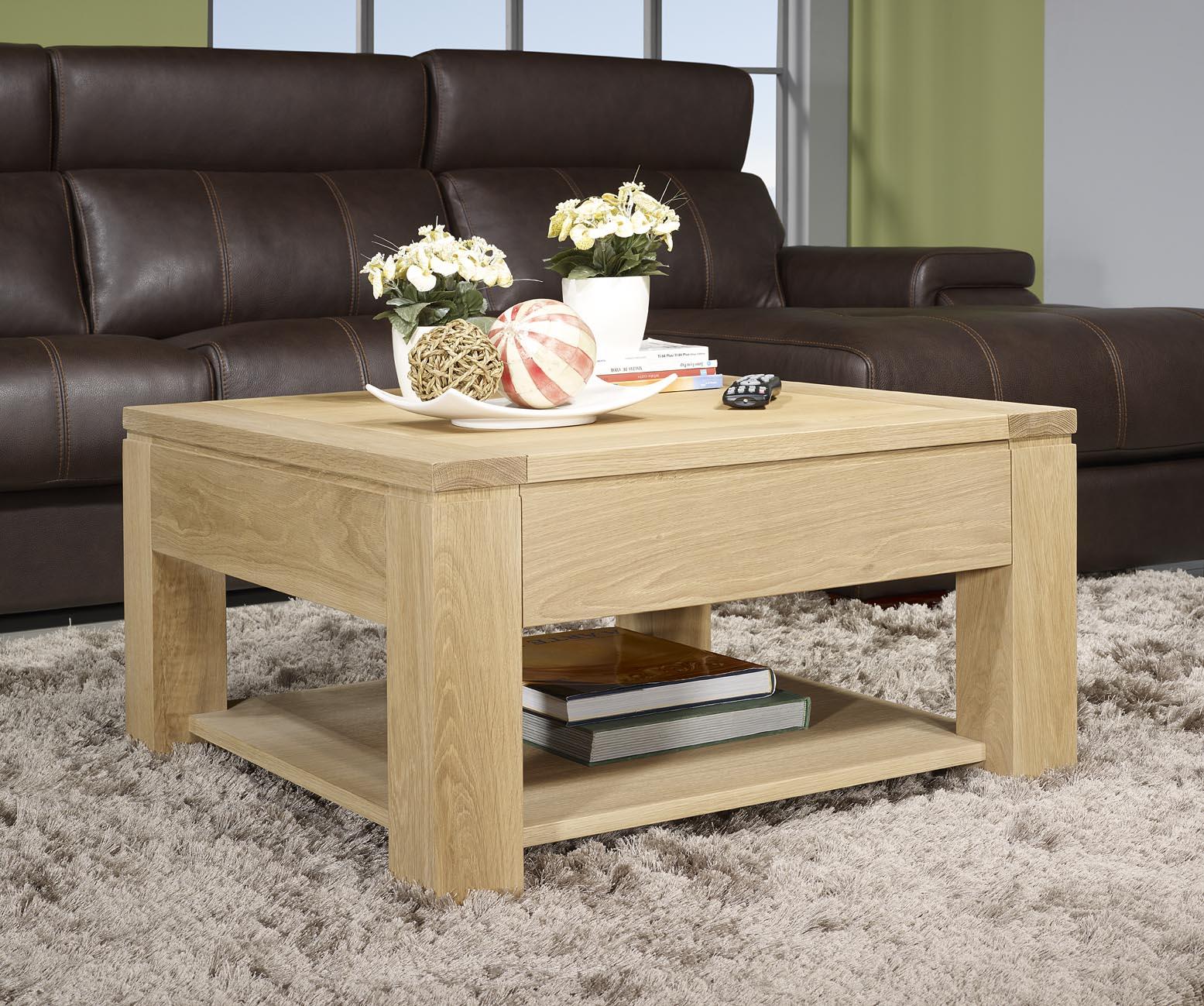 Table basse bois blanc gifi
