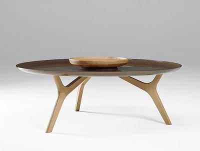 Table basse salon bois ronde