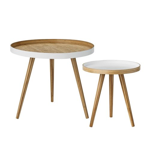 Table basse bois et bambou