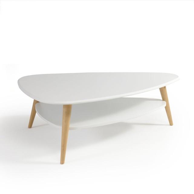 Table basse vintage double plateau coloris noir jimi
