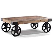 Table basse industrielle bois metal maison du monde
