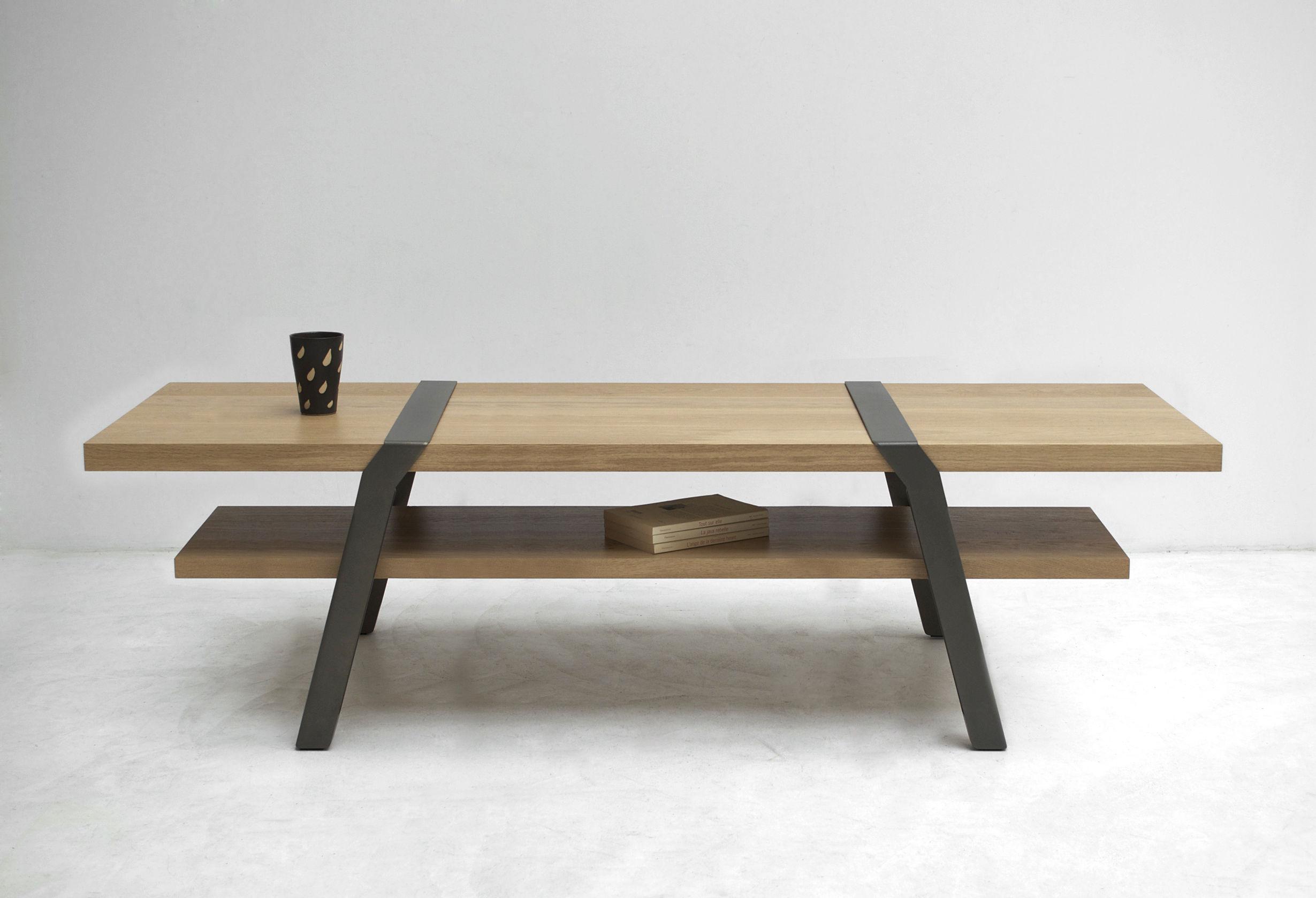Petit treteaux bois table basse