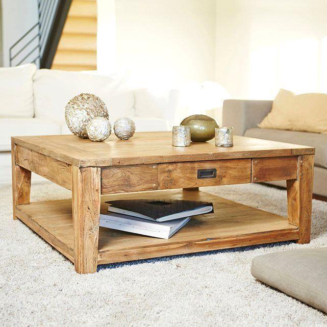 Soldes table basse bois