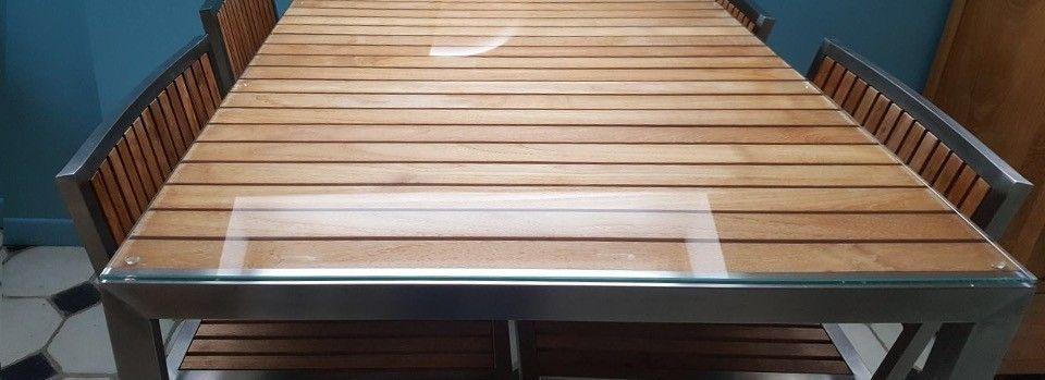 Proteger une table basse en verre