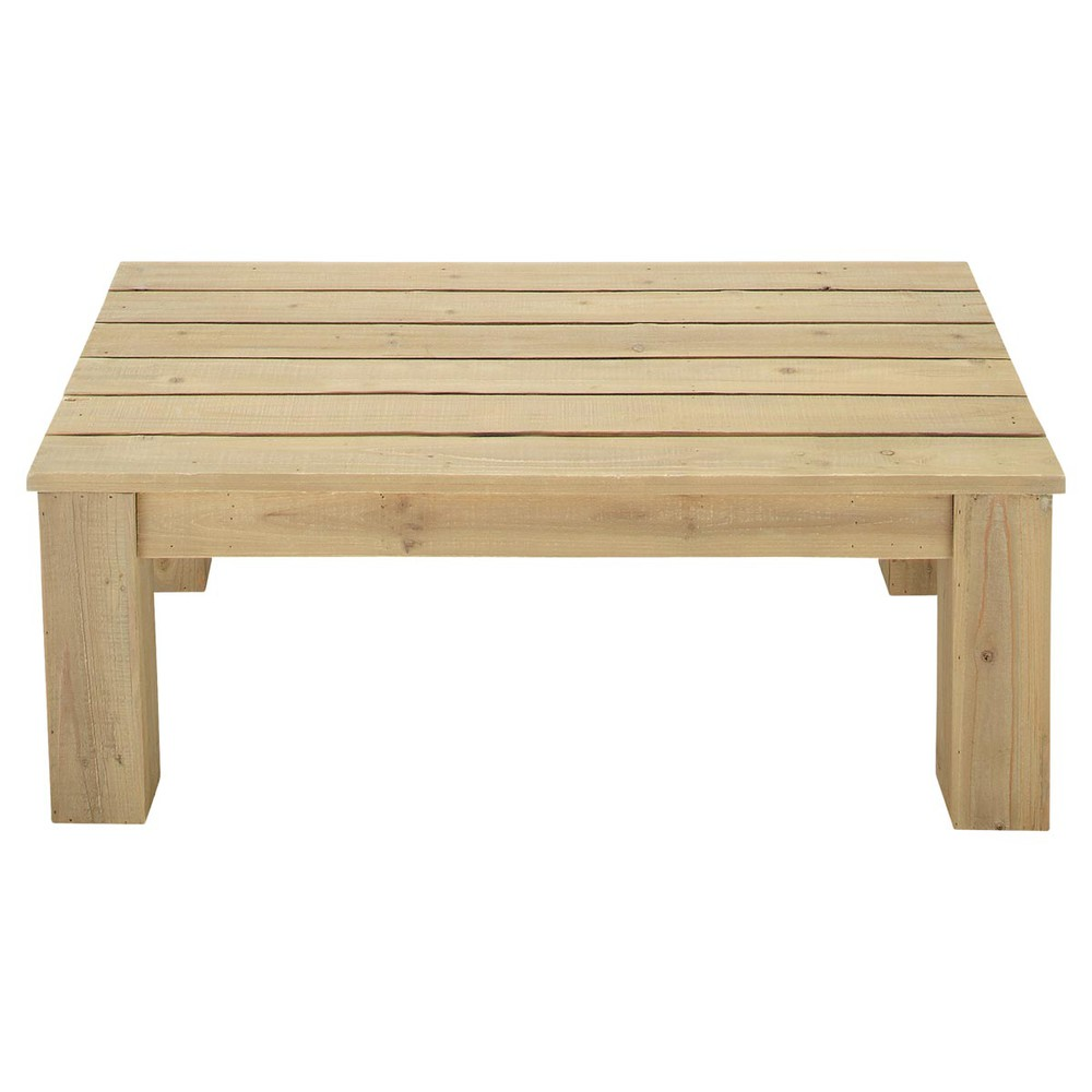 Fabriquer une table basse de jardin en bois