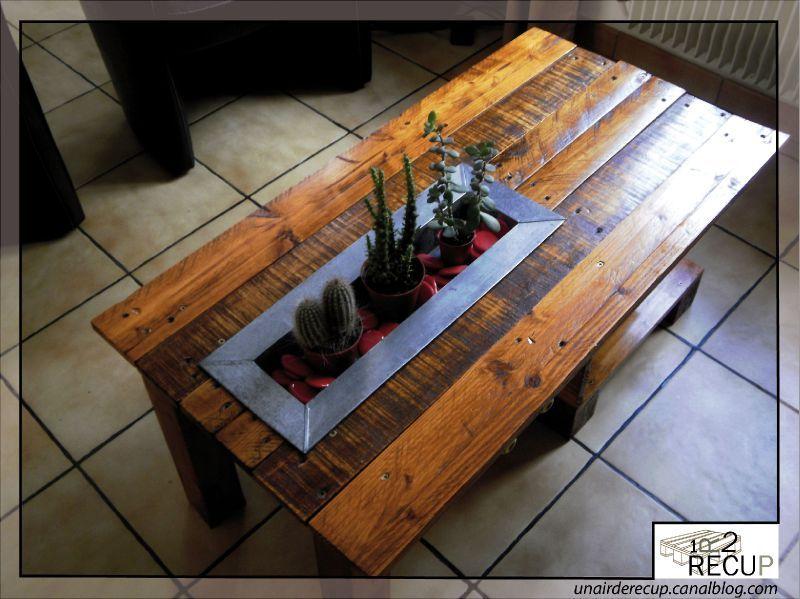 Table basse palette originale