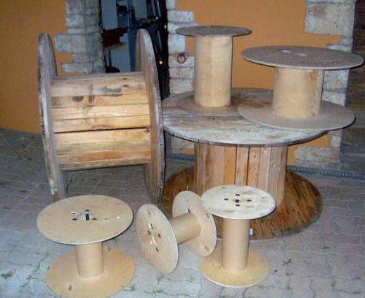 Bobine bois table basse