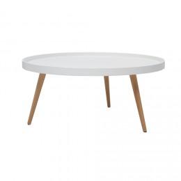Petite table basse en bois blanc