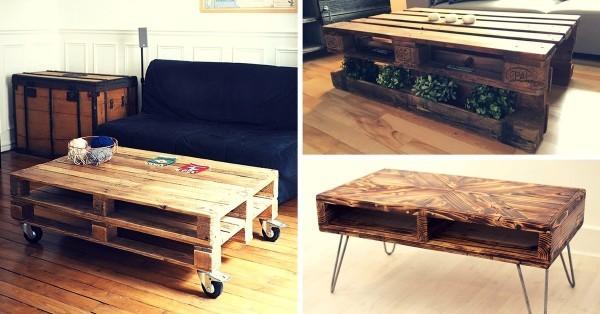 Acheter table basse palette bois