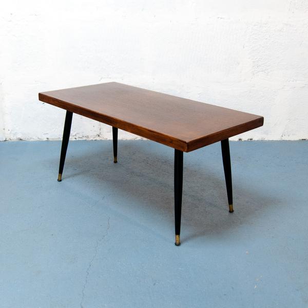 Table basse bois laiton