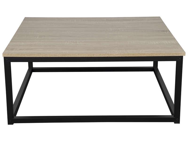 Conforama table basse bois et noir