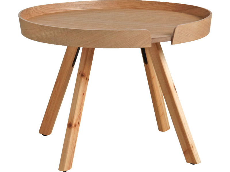 Table basse ronde bois rebord