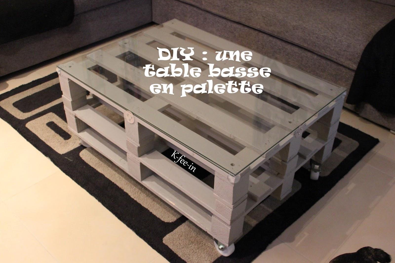 Table basse palette avec rangement