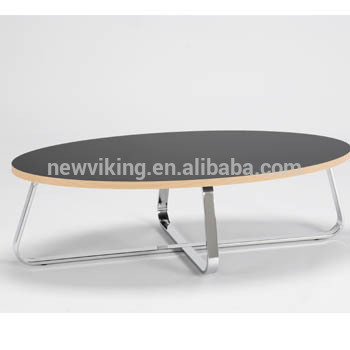 Table basse ovale design scandinave
