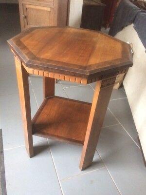 Table basse en bois années 20-30