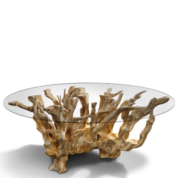 Table basse en bois racine
