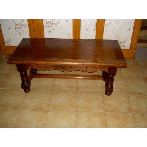 Table basse en bois de chene