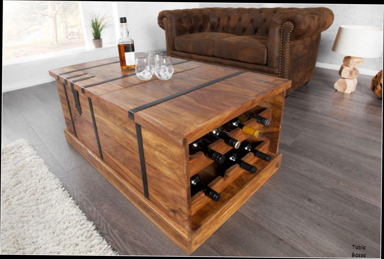 Table basse bois massif palissandre