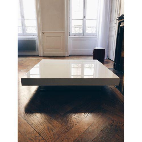 Table basse de salon bois metal