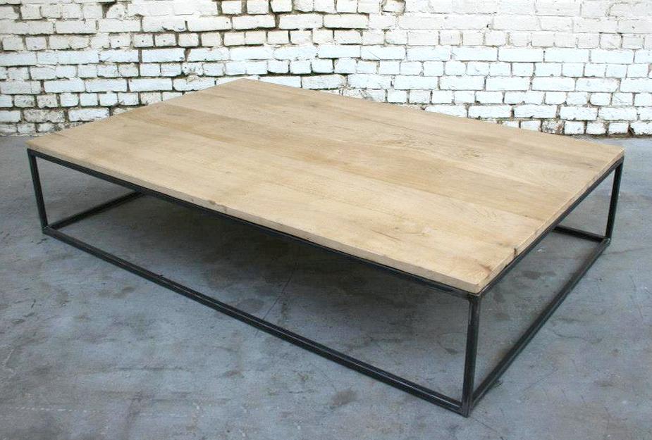 Table basse bois métale