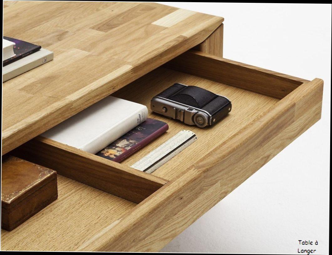 Table basse relevable bois brut
