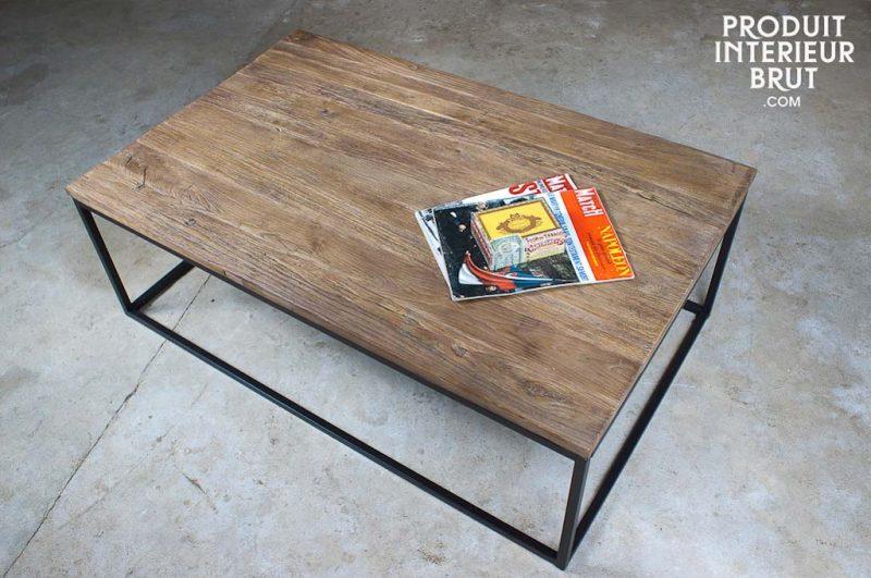 Table basse la redoute bois et métal