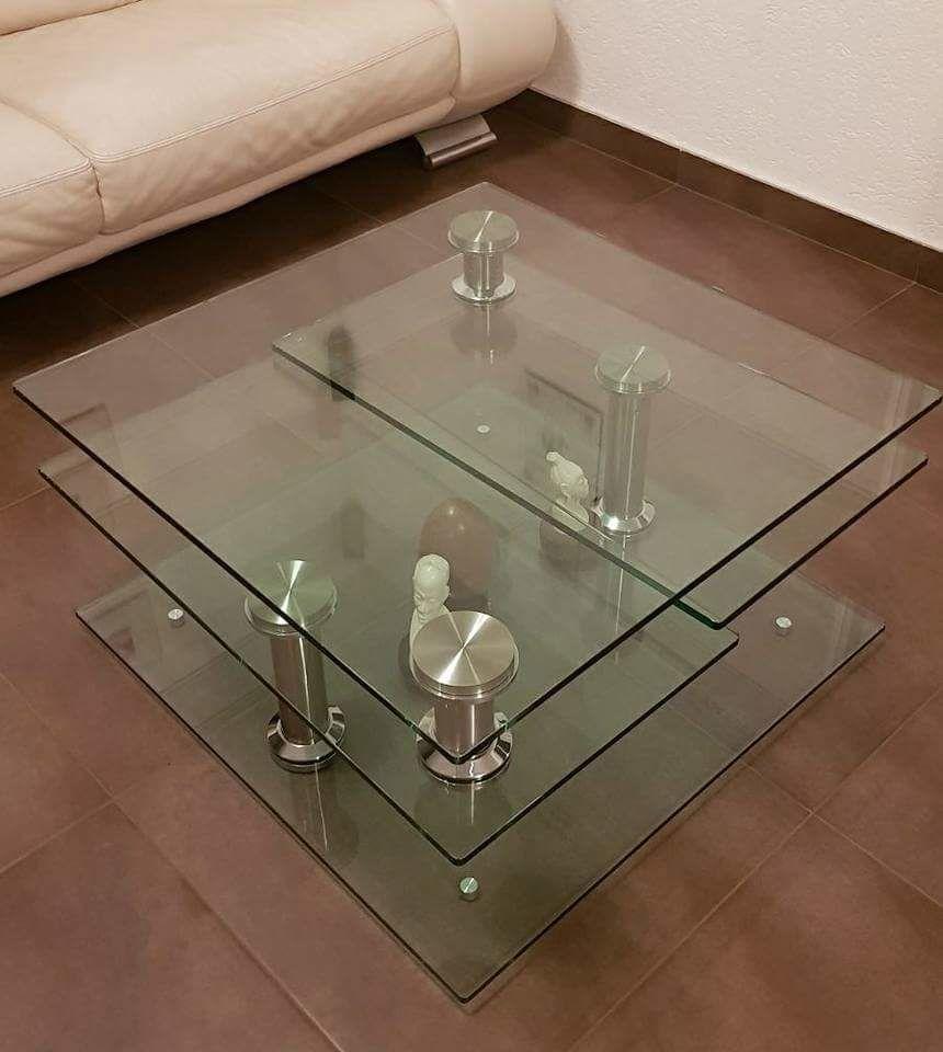 Table basse en verre d'occasion