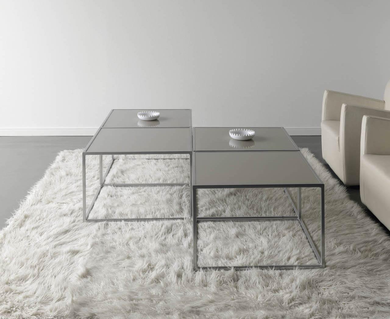 Table basse design metal et verre