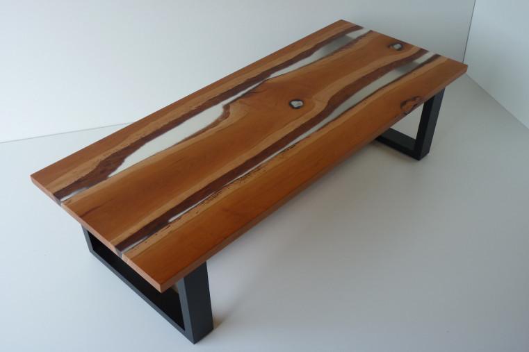 Table basse bois massif merisier
