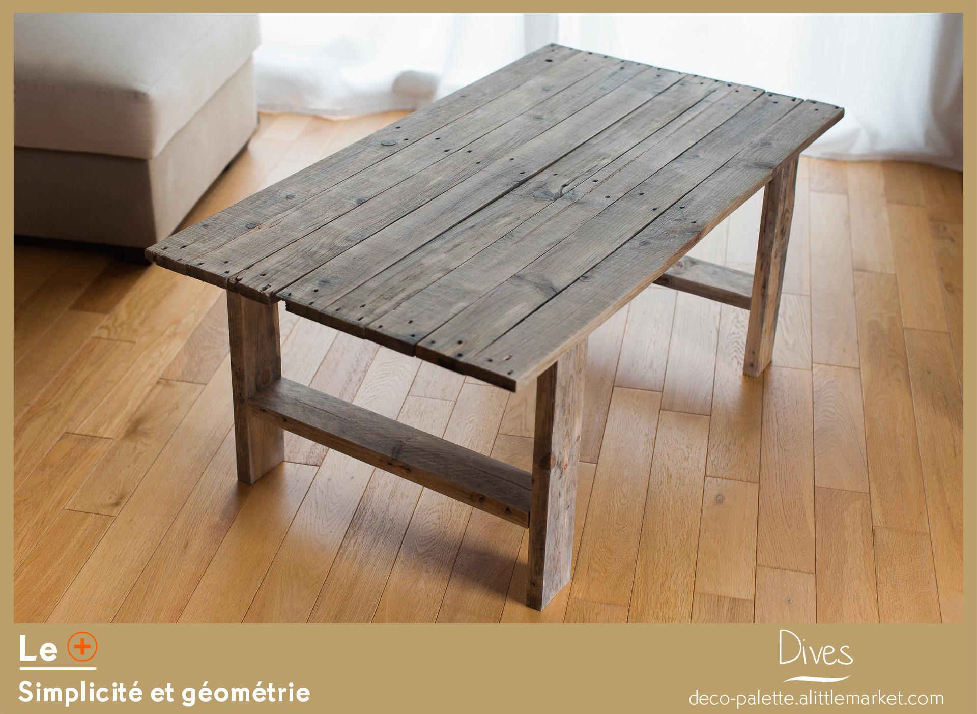 Table basse palette bois a vendre