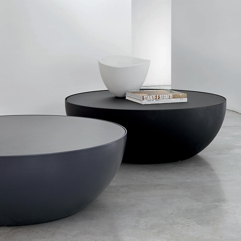 Table basse ronde rangement bois