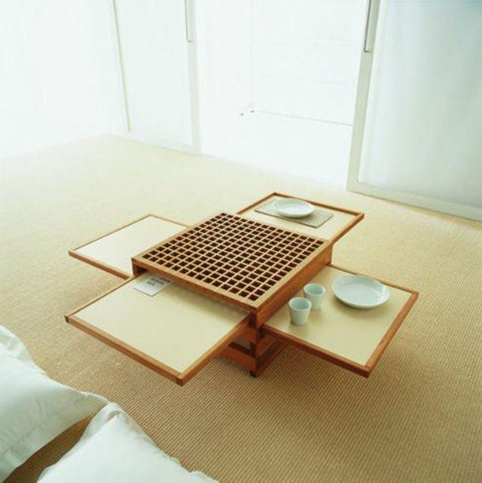 Table basse bois petit espace