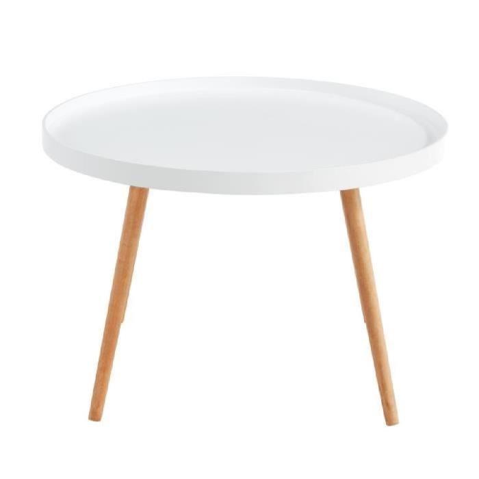 Table basse scandinave laquée