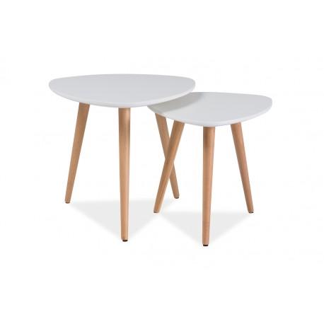 Table basse scandinave grise (lot de 2)