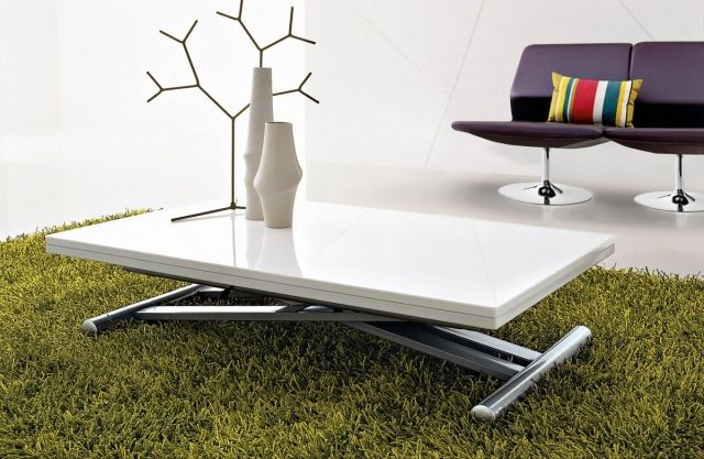 Table basse relevable topper
