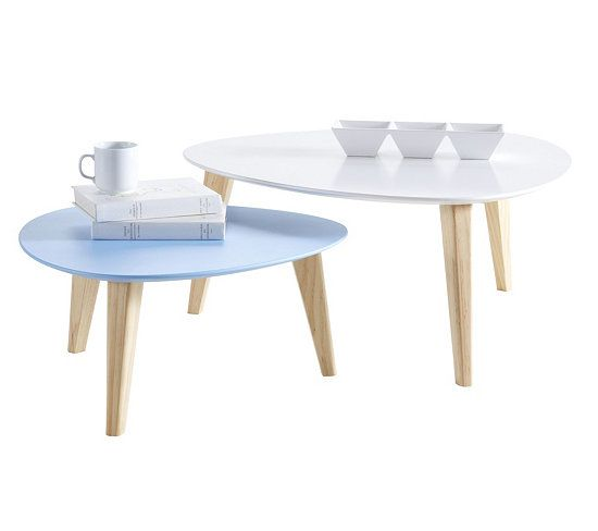 Table basse gigogne bleu