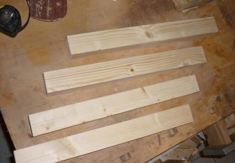 Construction d'une table basse en bois