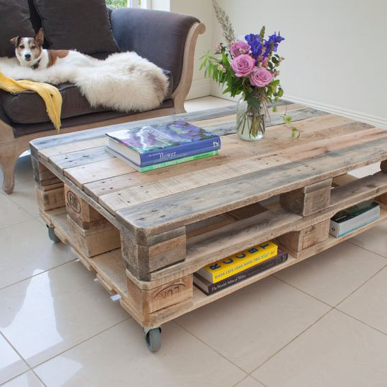 Table basse faite avec palette