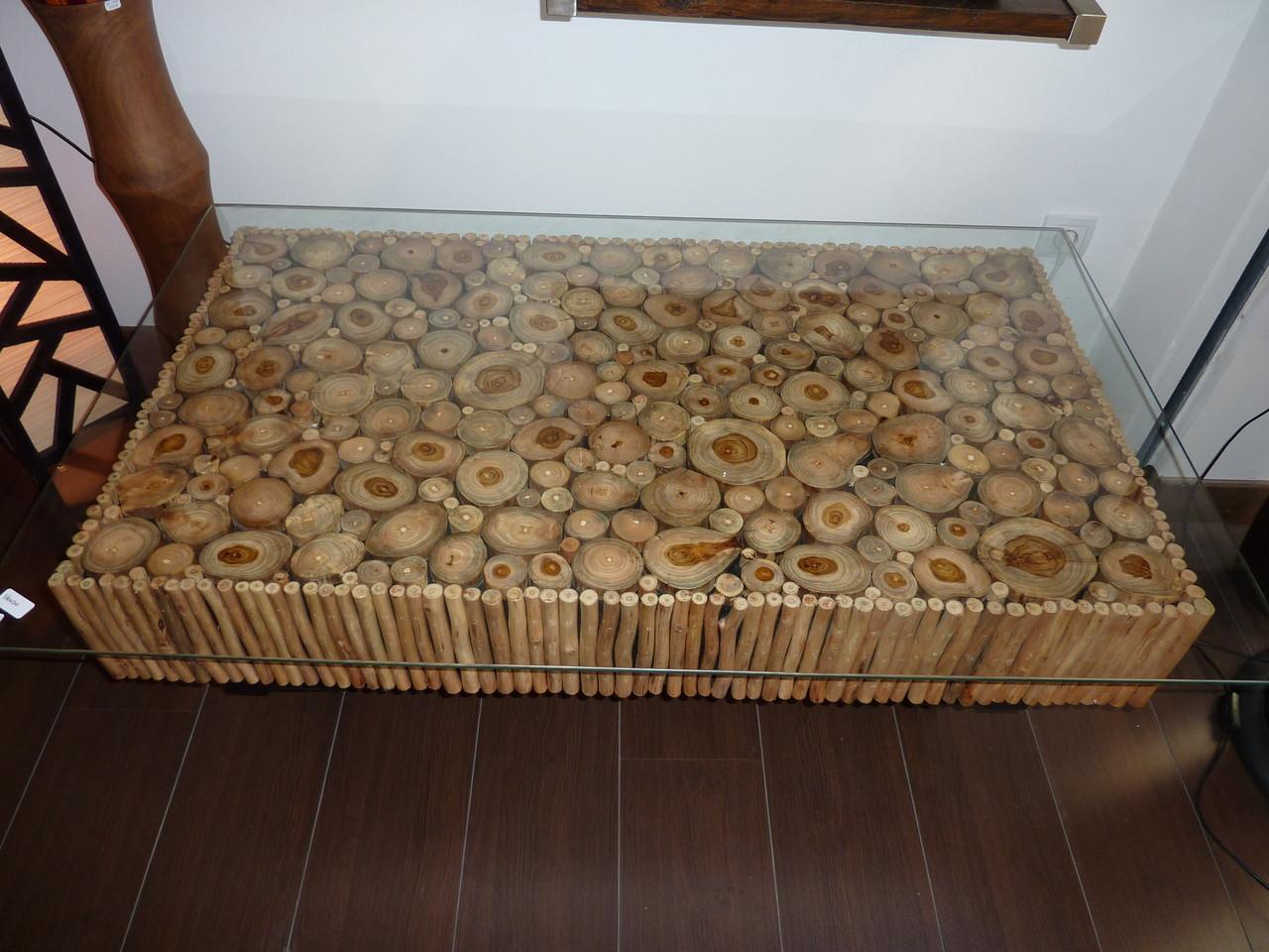 Fabriquer une table basse en rondin de bois