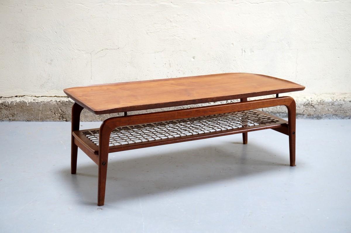 Siwa table basse vintage scandinave en chêne 60 cm